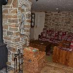 sofa corner and stove