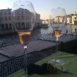 View of Grand Canal from the terrace.