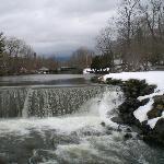 Waterfall near the inn