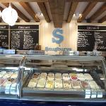 Inside Snugburys ice cream shop