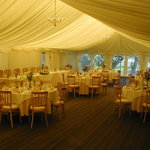 Our Marquee set up for a wedding