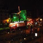 Window view - the Moulin Rouge