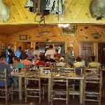 Dinner at the lodge