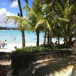 sortie de piscine direct sur plage
