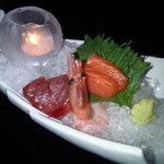Sashimi on a bed of ice