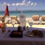 lunch on the beach served by Le Domaine's friendly Beach Club staff