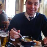 Green Pea soup & Amstel beer