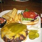 Green chili cheeseburger
