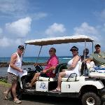 Rent a golf cart and tour the island