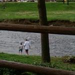 Our kids playing by the creek