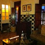 There is nothing more indulgent than a fireplace, the glow of candlelight, a glass of Spanish re