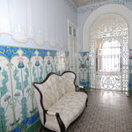 Original Tiles and frescoes invite you in to experience the delights of this historic home.