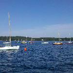 Children and adults have learned to sail on Linekin Bay Resort's fleet of Rhodes 19 sailboats.