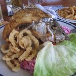 the most amazing red snapper lunch