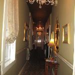 Hallway inside hotel