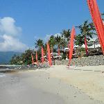 Außblick vom Strand