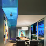 Penthouse dining room & pool