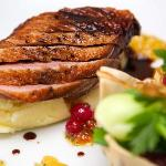 Seared breast of barbary duck