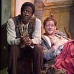 "Clarke Peters and Nick Westrate in ""The Whipping Man"" (Photo by Kevin Sprague, 2010)"
