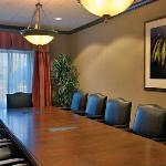Executive Board Room with plush leather chairs.
