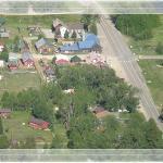 Aerial view of our quaint village