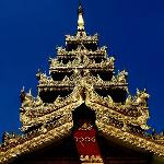 Beautiful gilded roof at Shwemawdaw