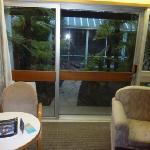 View through patio doors