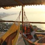 the hammock lounge on top of Casa Alto Vidigal  - on top of the Favela Vidigal