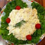The tuna salad