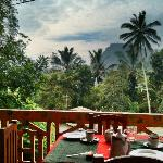 View of Ella rock from the breakfast table