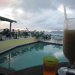 Happy hour and sunset at the Heritage Inn bar