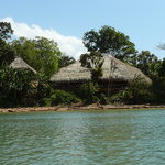 Embera Indian village thatched huts