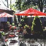 The Wickwood Inn's patio is a great place to relax.