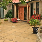 Enter throgh our beautiful courtyard
