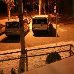 Aparcamiento fácil... incluso con nieve..