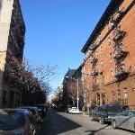 la rue ou se trouve l'auberge