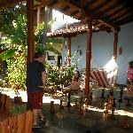 Hammock, swing & chess in courtyard