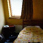 the bed & window area
