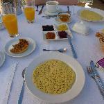 Uno de los buenísimos desayunos marroquíes