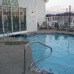 Outdoor portion of pool