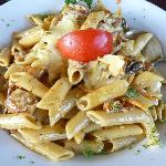 Penne Pasta Dish at Frontier Cafe & Bar -  World Heritage Hotel in Haast NZ