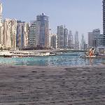 Infinity pool Lotus Hotel across marina Dubai