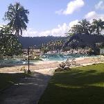 The pool/bar area