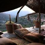 Berber Tent and view of valley