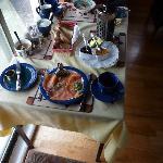Smoked salmon on breakfast