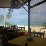 La vista desde el restaurante