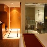 The Glass Bathrooms!