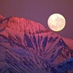 full moon over the Andes