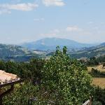 Apennine views from the terrace