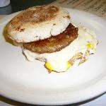 Sausage, Egg & Cheese English Muffin at Guildays
